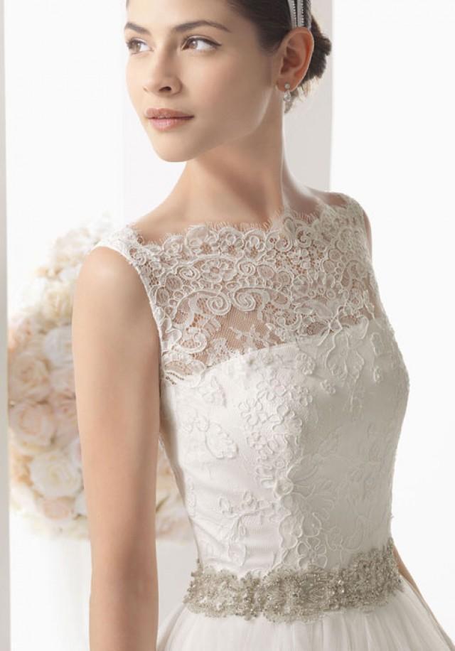 wedding photo - a-line tulle,lace wedding dress - bessprom.com