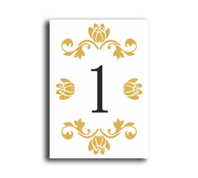 Table Numbers Wedding Table Numbers Printable Table Cards Download ...