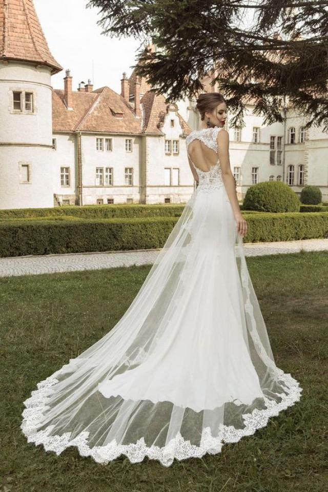 Wedding dress with open back lace wedding dress sexy for T back wedding dress