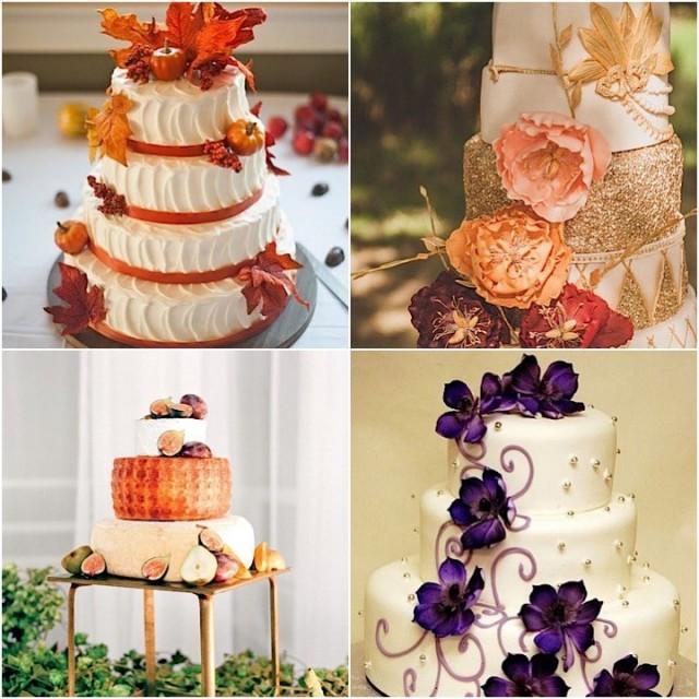 Spectacular fall wedding cake ideas weddbook for Mobilya wedding