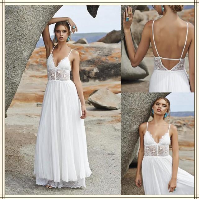 Pin spaghetti straps printed blacks chiffon rhinestones for Backless wedding dresses online