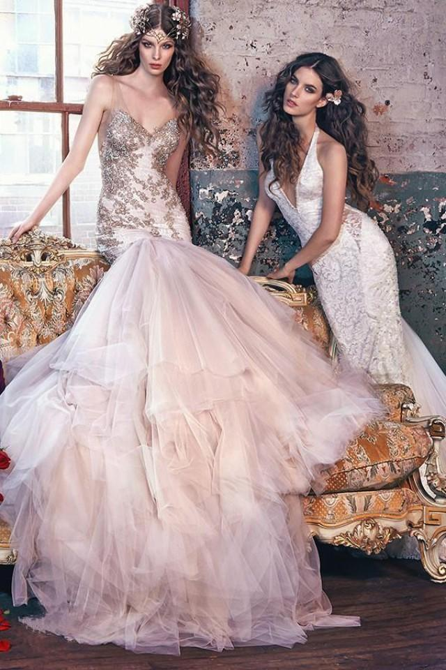 Wedding Dresses   Us : Glamourous galia lahav blush wedding dresses beaded