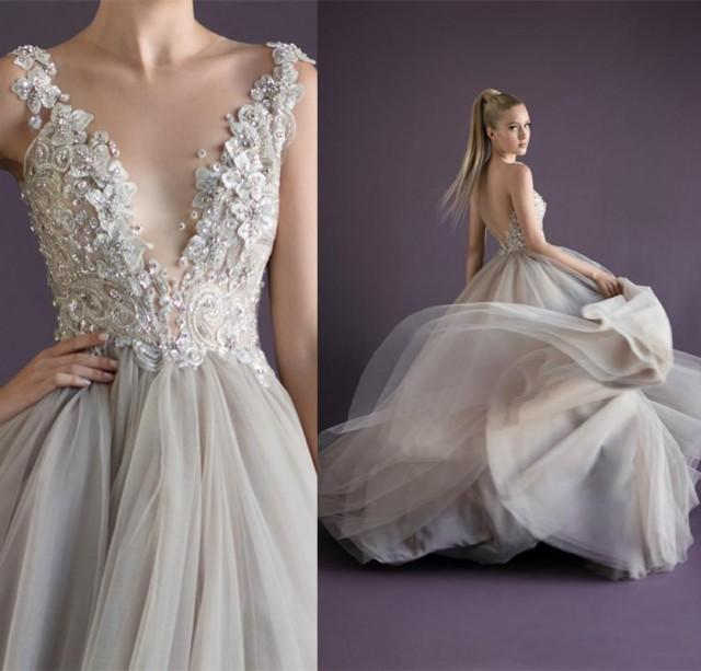 Charming Paolo Sebastian Backless Wedding Dresses 2016 ...