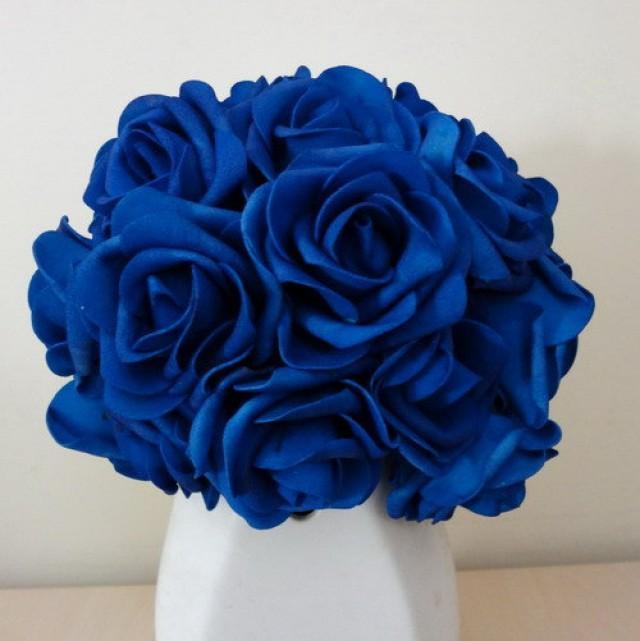 Pcs royal blue wedding arrangement flowers artificial