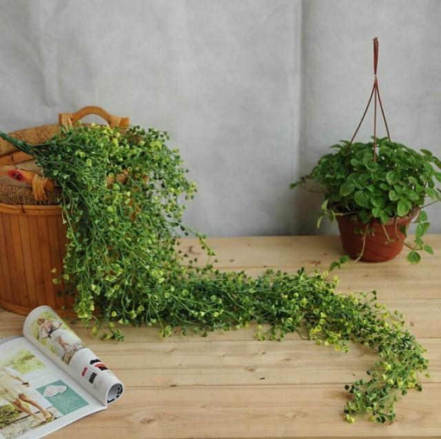 wedding photo - 85cm 120cm 5pcs Artificial flower hanging basket flower vine plastic artificial plants Ivy Garland