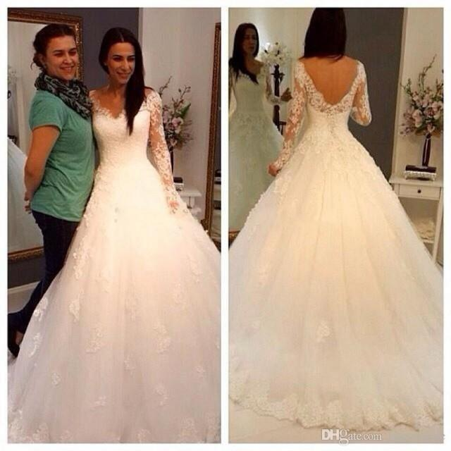 Plus Size Empire Waist Wedding Dress: 2015 Vestidos De Noiva Winter Lace Wedding Dresses Long