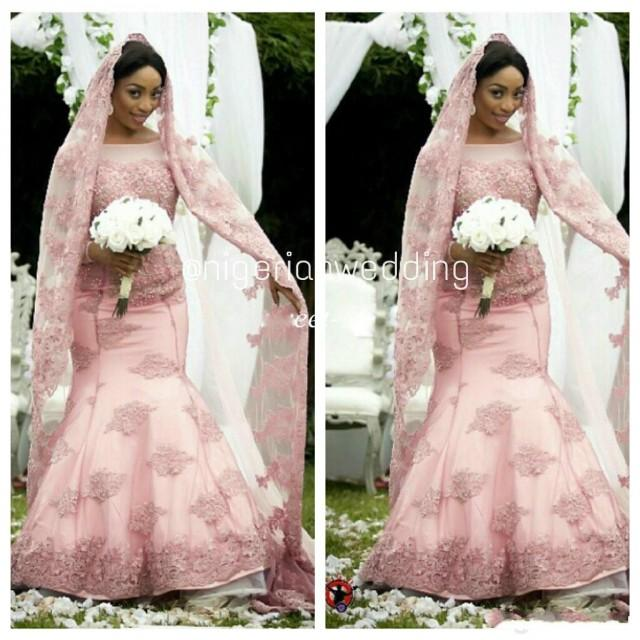 Blush Pink Plus Size Bridesmaid Dresses : Blush pink winter plus size wedding dresses mermaid