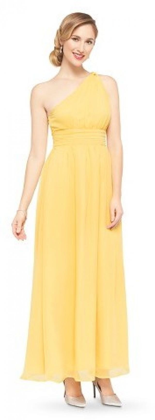 Tevolio women 39 s plus size chiffon one shoulder maxi for Yellow maxi dress for wedding
