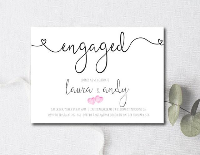 Engagement party invitations weddbook for Invitation for engagement party