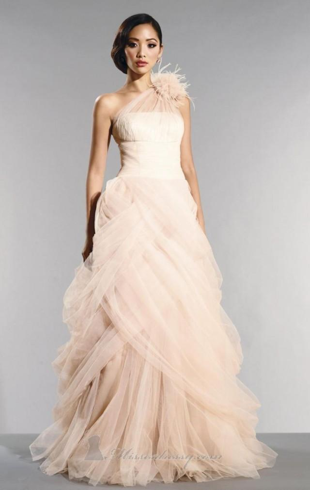 Colored wedding dresses tulle informal wedding dresses for Non traditional wedding dress colors
