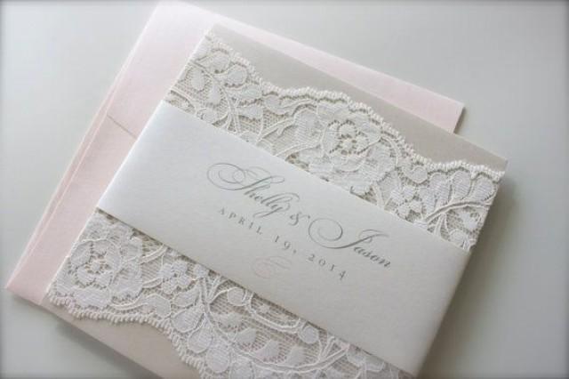 Blush And Ivory Wedding Invitations