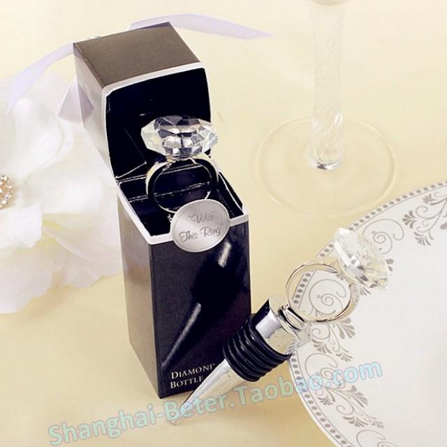 100box Engagement Ring Wine Stoppers Wedding Favours BETER WJ024 From Reliable Ring Bow