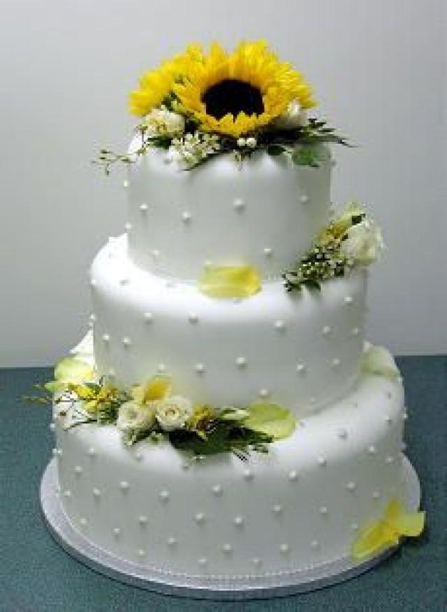 Tier Yellow Wedding Cake