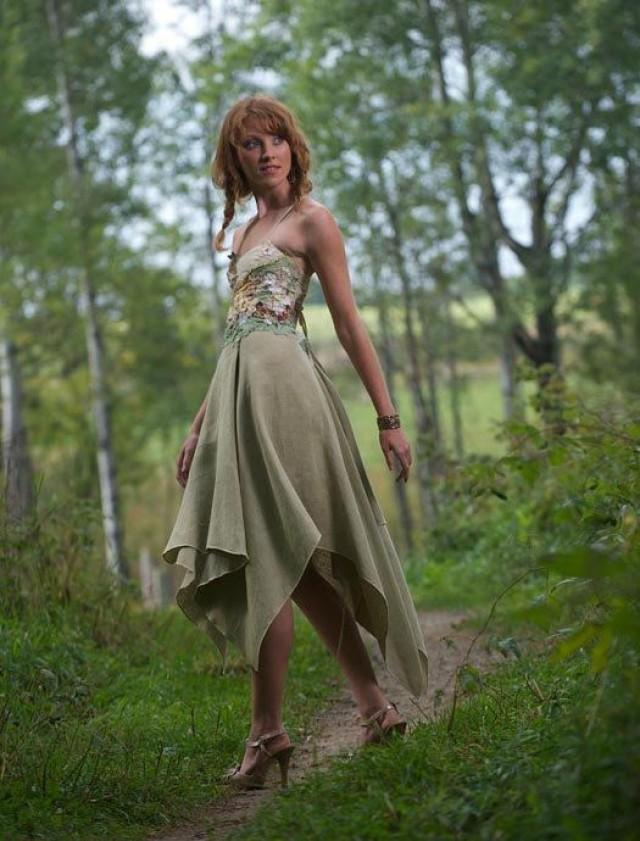 Farfalla, Our Ethereal Fairy Wedding Dress Made Of Green ...