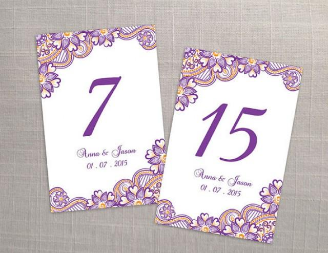 Diy printable wedding table number template 2366758 for Table design numbers
