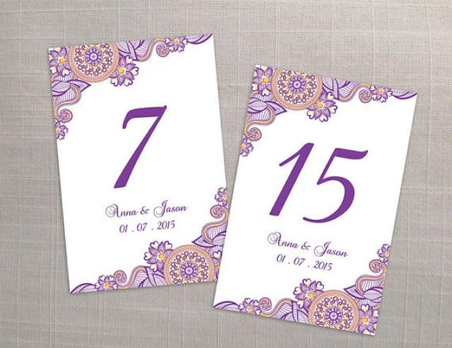 Diy printable wedding table number template 2366986 for Table number design template