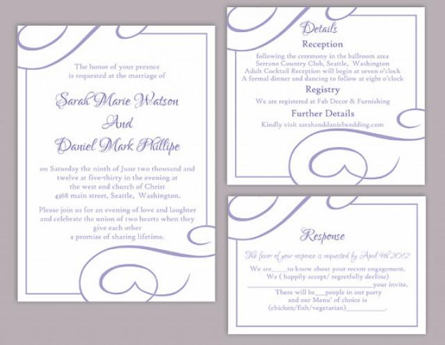 Diy wedding invitation template set editable word file for Free wedding invitation templates for word