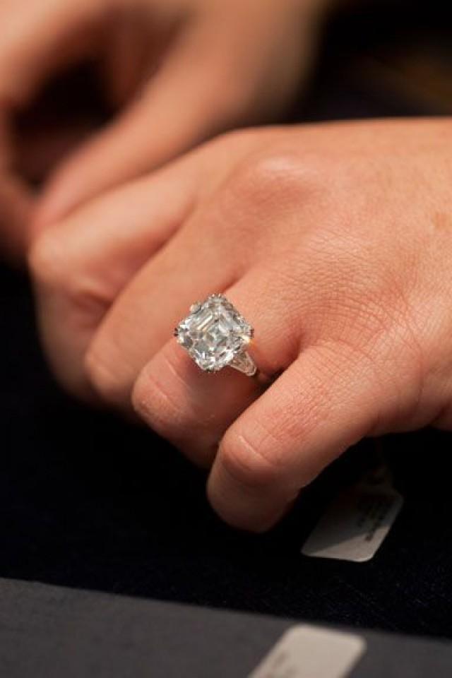 Large Cushion Cut Diamond Rings For Sale