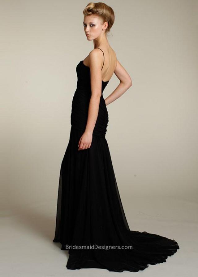 wedding photo - Shop Black Bridesmaid Dresses