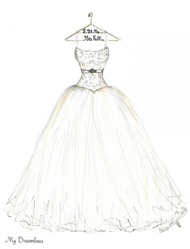 Groom wedding dress sketch by dreamlines 2368448 weddbook for How to draw a wedding dress