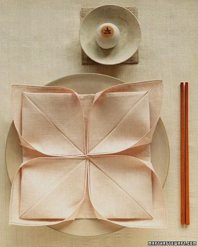 Decoración  Napkin Folding Lotus #2369273  Weddbook