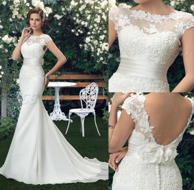 Beautiful new arrival chiffon lace mermaid wedding dresses Wedding dress 88