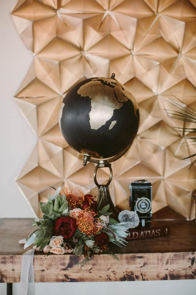 DIY Geometric Tablecloth Backdrop