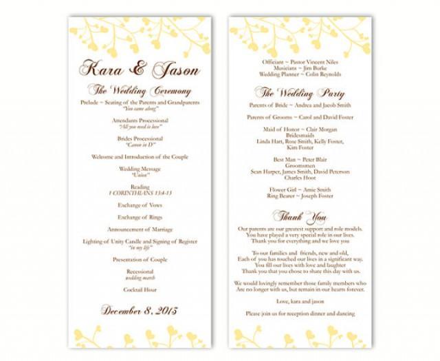free wedding menu templates word