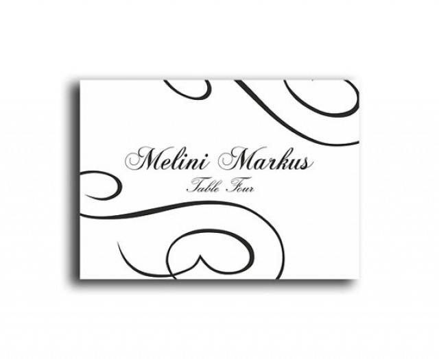 wedding place card templates printable. Black Bedroom Furniture Sets. Home Design Ideas