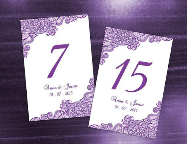 Diy printable wedding table number template 2370741 for Table number design template