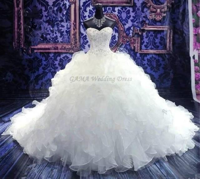 wedding photo - Corset Wedding Dress Sweetheart Bridal Gown Ruffled Bridal Dress Ball Gown