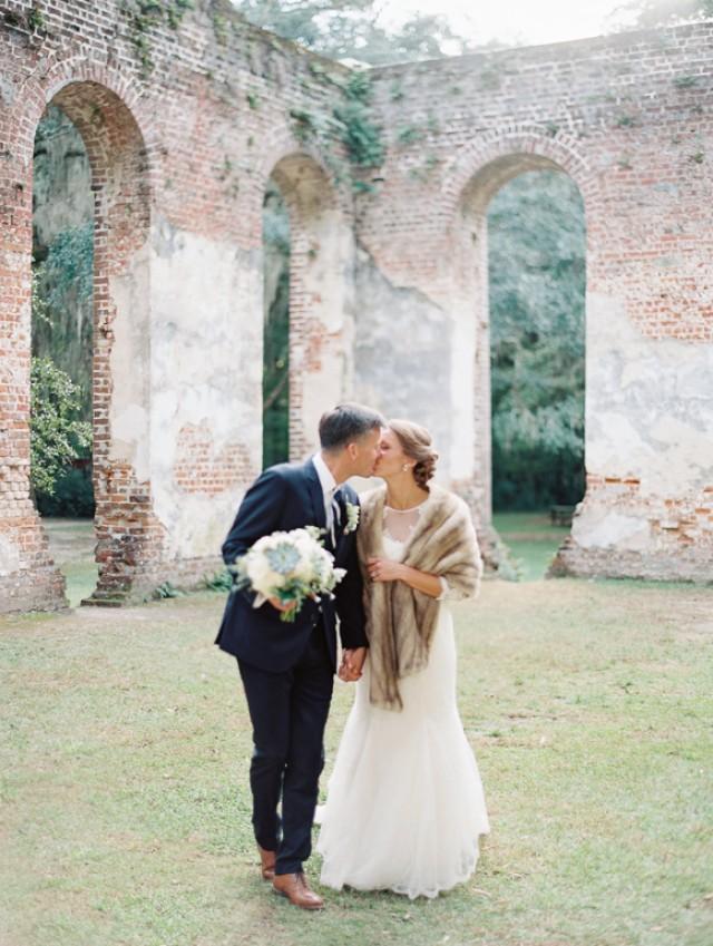 Southern Real Wedding Among Old Church Ruins