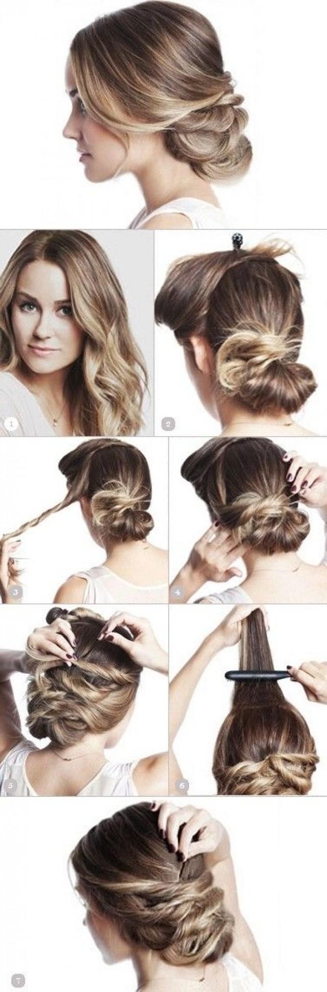 Простые прически для девушки на средние волосы фото