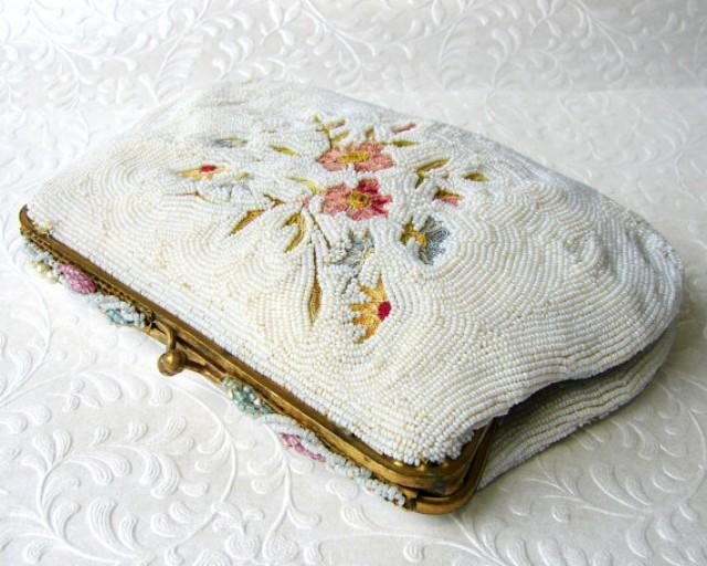 Vintage Spritzer Fuhrmann French Hand Beaded Clutch Small ...