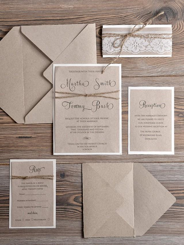 Rustic Wedding Invitations 20 Country Style Lace Wedding – Country Style Wedding Invites