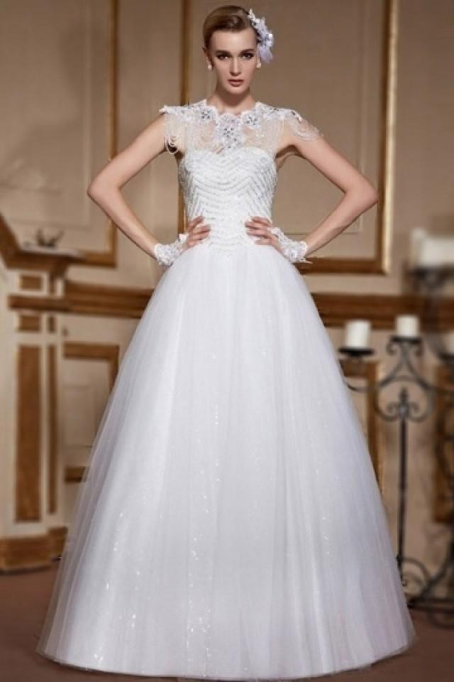 wedding photo - Sexy Sweetheart Tulle Lace Up Sequins A Line Wedding Dress- AU$ 956.65 - DressesMallAU.com
