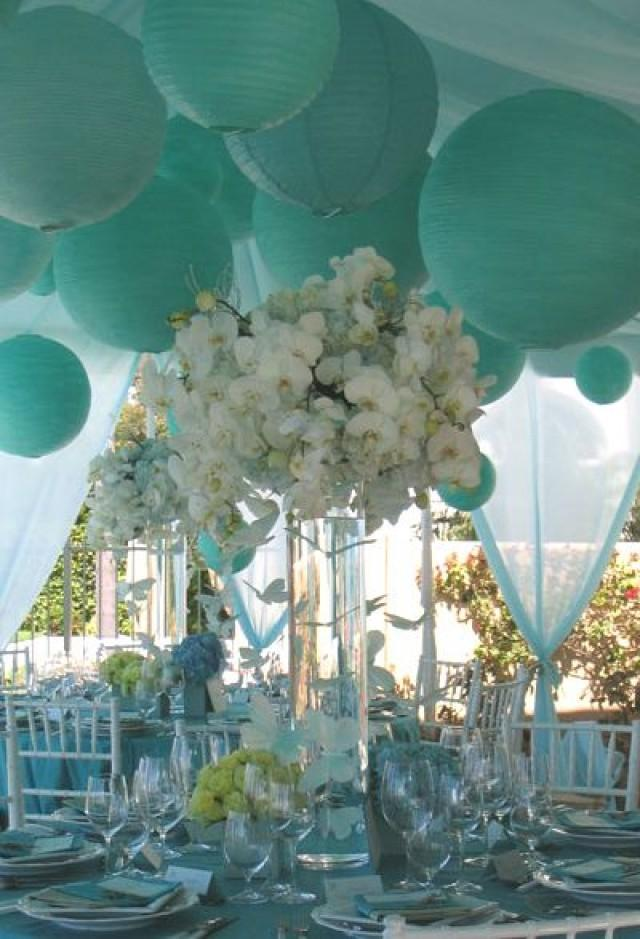 Wedding Theme Tiffany Blue Paper Lanterns 2374532 Weddbook