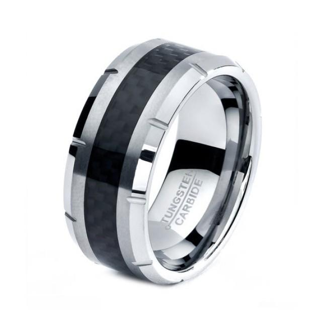 black tungsten ring black men tungsten rings black wedding bands black mens wedding band. Black Bedroom Furniture Sets. Home Design Ideas