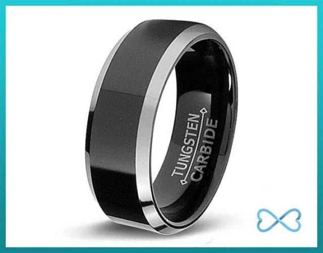 tungsten wedding bands mens ring mens wedding bands black wedding band