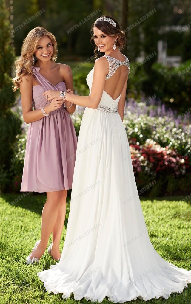 wedding photo - Stella York Chiffon Wedding Dresses Style 6018