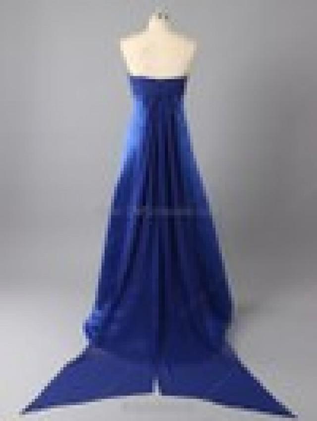 wedding photo - A-line Satin Strapless Ruched Floor-length Bridesmaid Dresses in Australia - dmsdresses.com