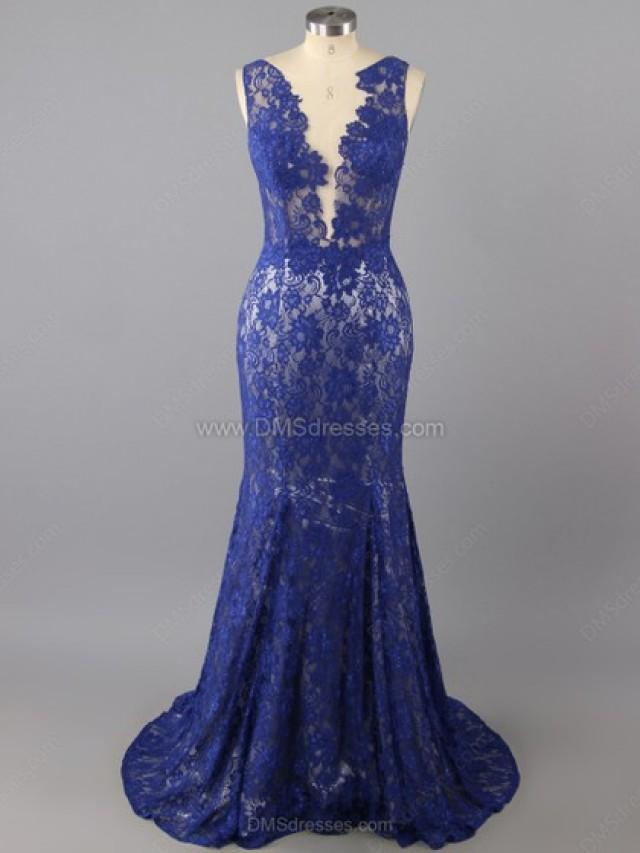 wedding photo - Trumpet/Mermaid Tulle Lace Scoop Neck Appliques Lace Floor-length Formal Dresses in Australia