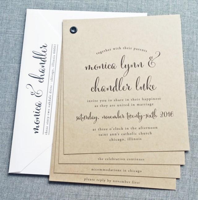 Wedding Invitation Booklet Style: Monica Kraft Booklet Wedding Invitation Sample