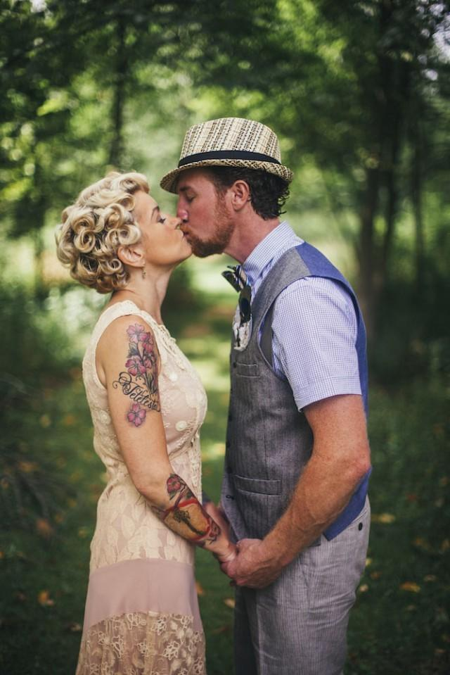 Vintage inspired second wedding at their family barn weddbook junglespirit Images