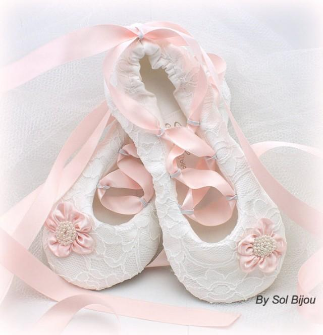 Flower Girl Shoes White Flats