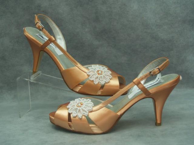 Tan heels for wedding