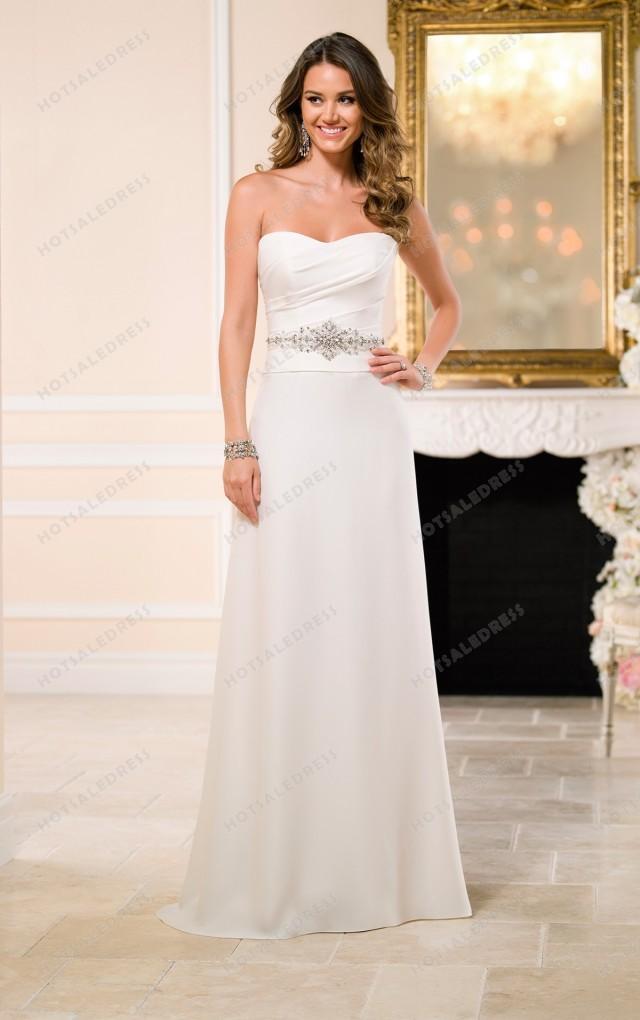 wedding photo - Stella York A Line Wedding Dresses Style 6044