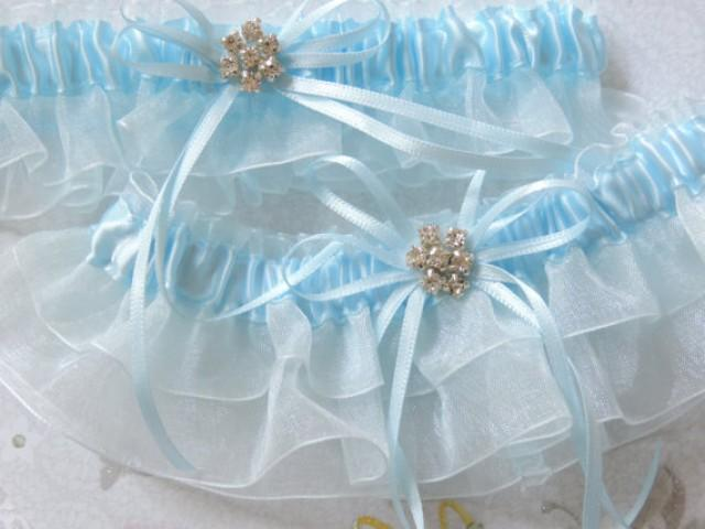 Wedding Garter Set Bridal Blue Garter Set Custom Wedding Garter Set Bride Garters Bridal