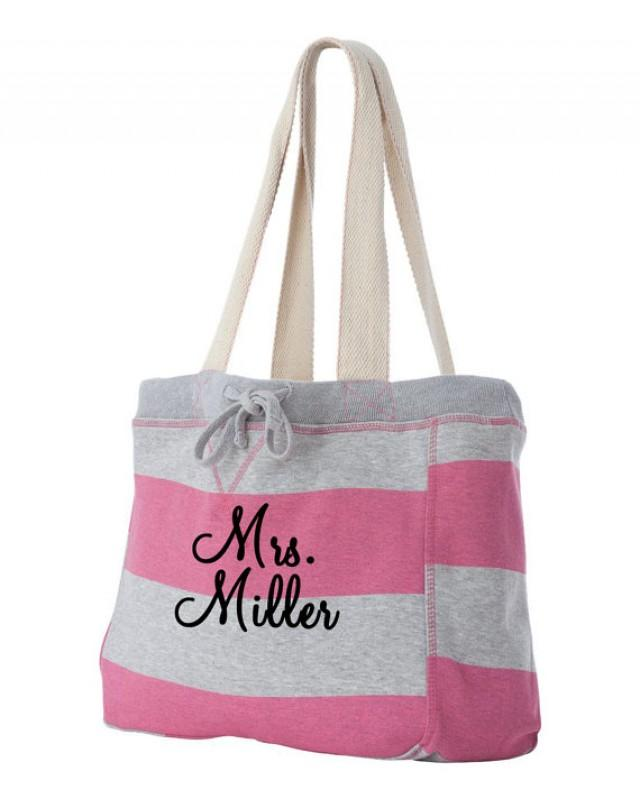 personalized monogrammed beach bag  monogrammed tote
