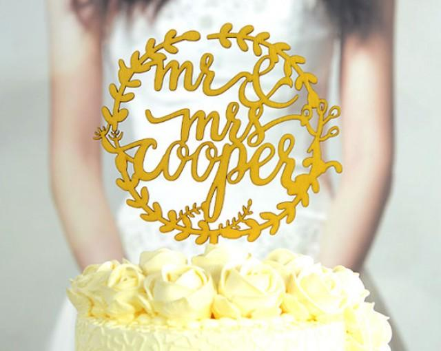 Design Wedding Cake Topper : Wedding Cake Topper Monogram Mr And Mrs Cake Topper Design ...